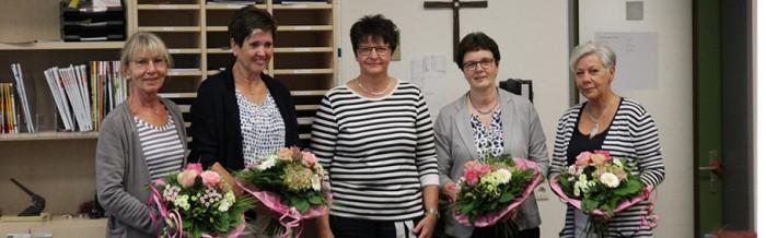Vier verdiente Lehrkräfte in den Ruhestand verabschiedet