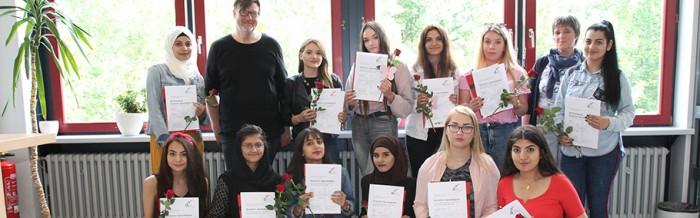 Erfolgreiche DSD I PRO-Absolventen an der Justus-von-Liebig-Schule
